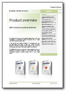 Download Productoverview of the Tools for Outlook as PDF...