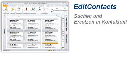 Screenshot von EditContacts
