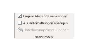outlook abstand