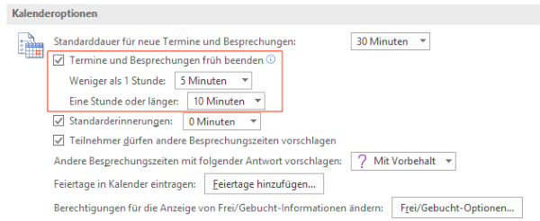 outlook terminoptionen