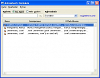 Screenshot Outlook Adressbuch 2007