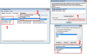 Screenshot Outlook Adressbucheinstellungen
