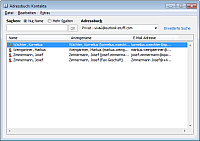 Screenshot Outlook Adressbuch 2010